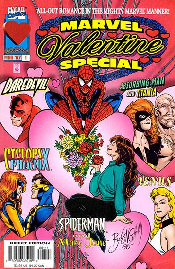 komiksy walentynkowe marvel