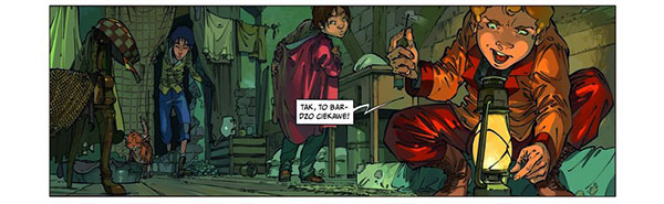 Czwórka z Baker Street tom 2 kadr komiksu
